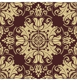 Damask seamless pattern golden background vector