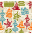 Bright holiday winter seamless pattern vector