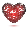 Heart isolated on white vector