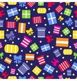 Seamless pattern with gift boxes and bows vector