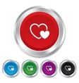 Hearts sign icon love symbol vector