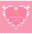 Wedding heart frame pink vector