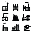 Nuclear energy icons vector