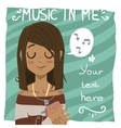 Music in me postcard vector