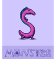 Monster font vector