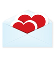 Heart stickers envelope vector