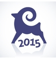 Geometric symbol of a goat 2015 vector