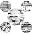 Brick wall set vector