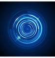 Abstract technology circles and digital light vector