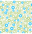Green-blue round circle mix pattern background vector