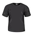 Black tshirt vector