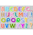 Multicolor alphabet stickers vector