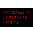Led dotted alphabet vector