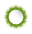 Summer grass circle go green concept vector