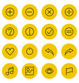 Thin line icons set for web and mobile vector