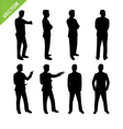 Business man silhouettes vector