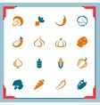 Vegetables icons - in a frame series vector