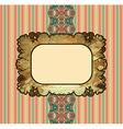 Obsolete royal gold frame design element vector