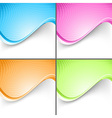 Colorful wave folder templates set vector