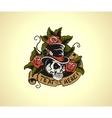 Old school tattoo skull vector