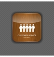 Customer service wood application icons vector