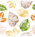 Autumn leaf stamps seamless pattern vector