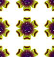 Beautiful green flower seamless floral pattern vector
