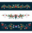 Christmas ornamental frame vector