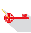 Archery board make key vector