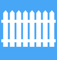 Icon fence on a blue background vector