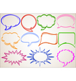 Multicolor hand-drawn talking bubbles comic book s vector