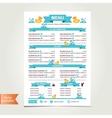 Cafe menu for kids template design vector