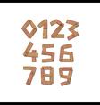 Wooden digits numbers vector