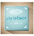 Vintage merry christmas card vector