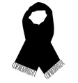 Black scarf vector