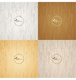 Set light wood background vector