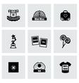 Mini miss icon set vector