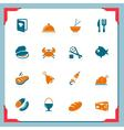 Food icons - in a frame series vector