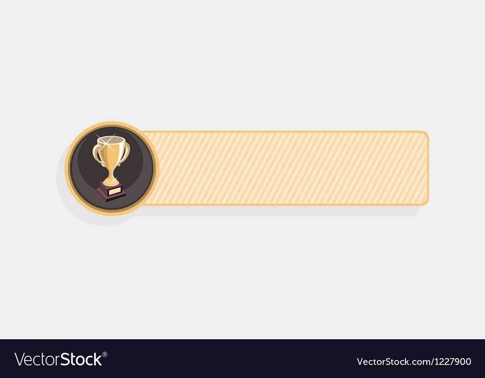 Achievement cup vector | Price: 1 Credit (USD $1)