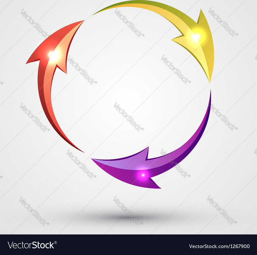 Arrow circle - cycle vector | Price: 1 Credit (USD $1)