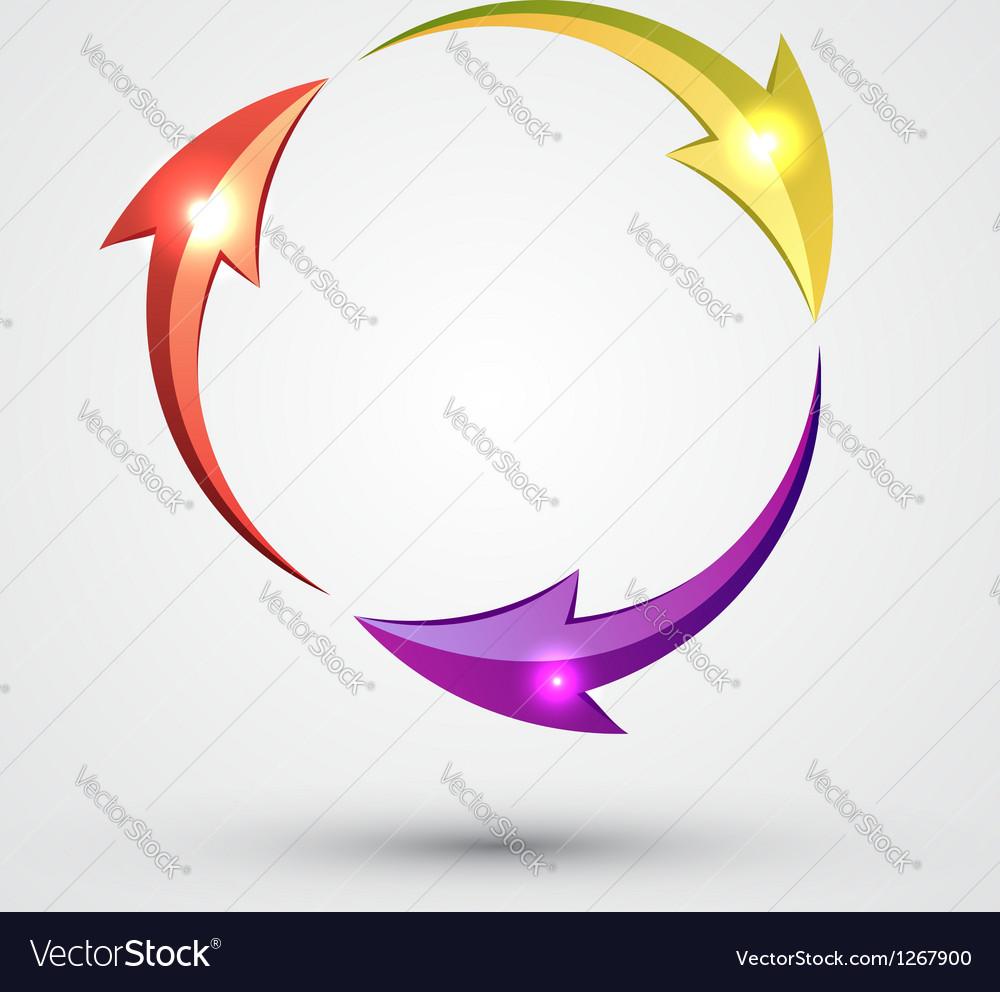 Arrow circle - cycle vector | Price: 1 Credit (USD $1)