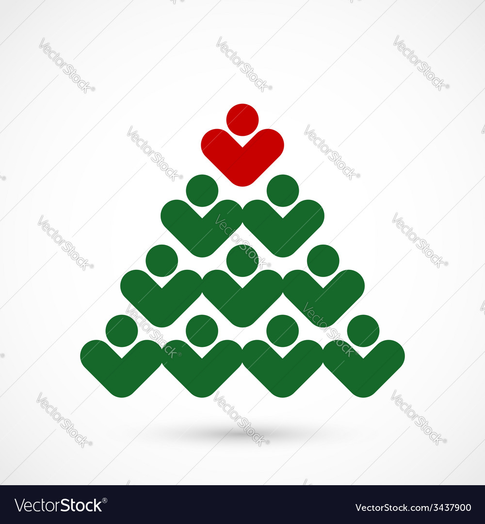Christmas social tree vector | Price: 1 Credit (USD $1)