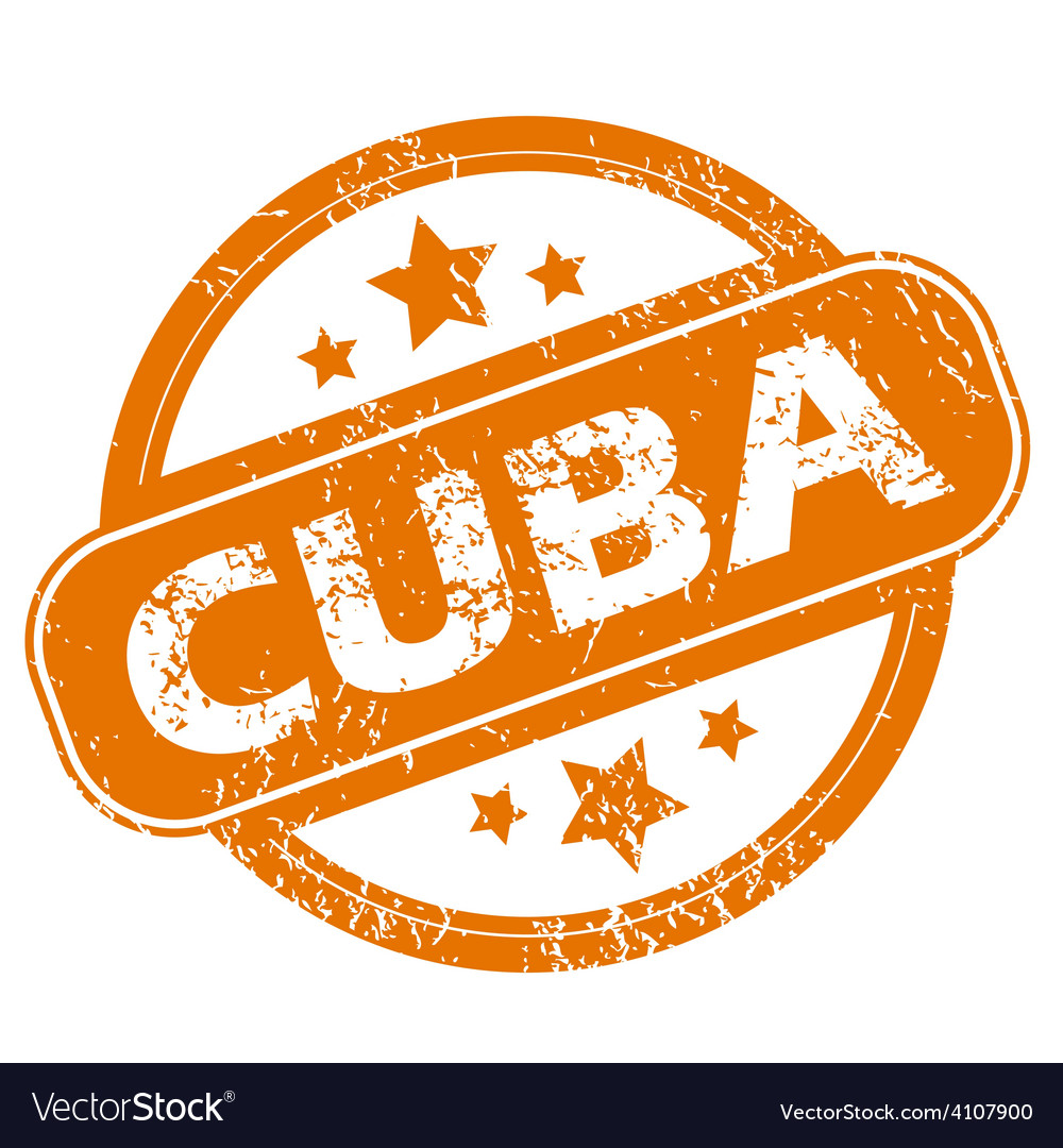 Cuba grunge icon vector | Price: 1 Credit (USD $1)