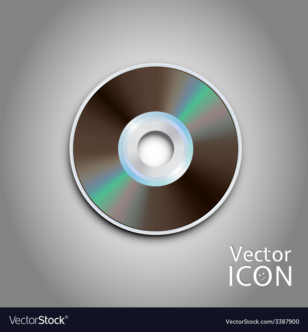 Dvd cd disc computer disks realistic image vector | Price: 1 Credit (USD $1)