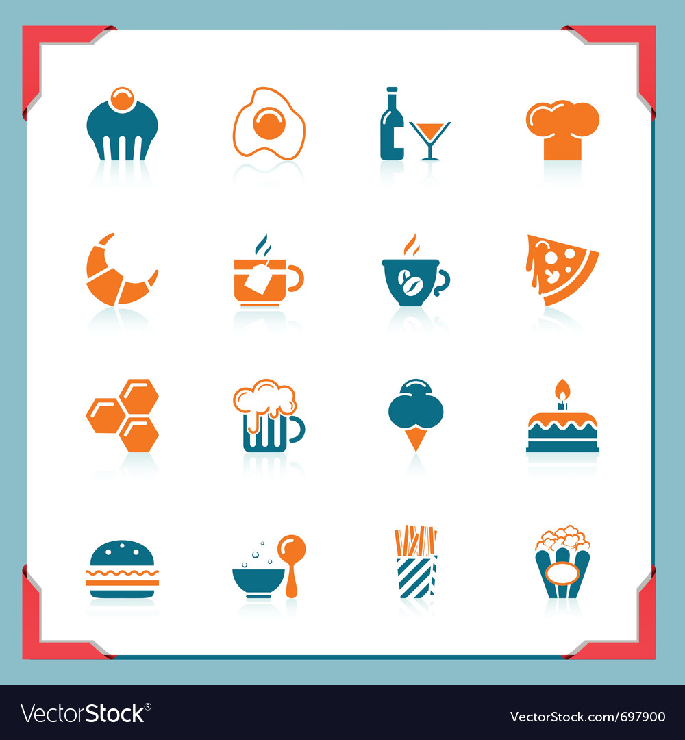 Food icons 2 - in a frame series vector | Price: 1 Credit (USD $1)