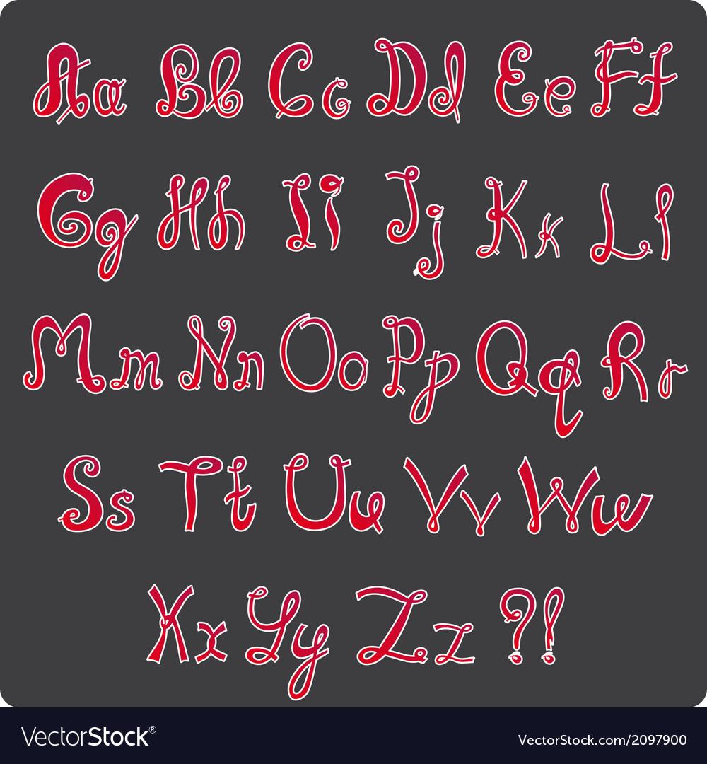 Hand-written alphabet vector | Price: 1 Credit (USD $1)