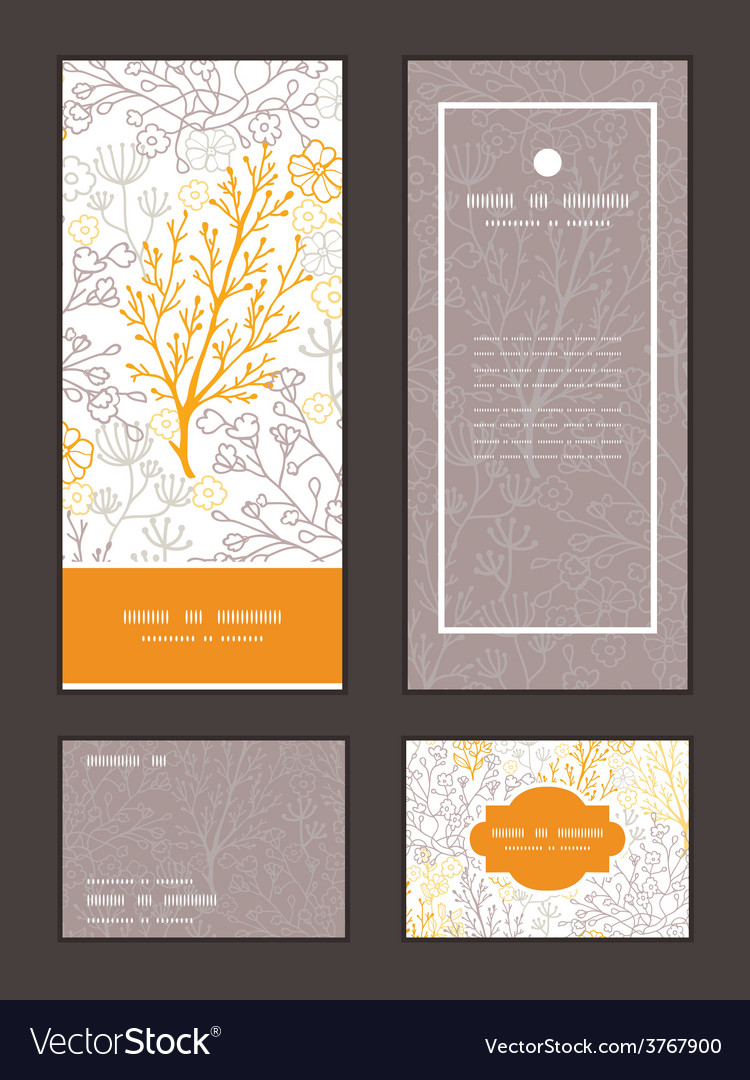 Magical floral vertical frame pattern vector | Price: 1 Credit (USD $1)