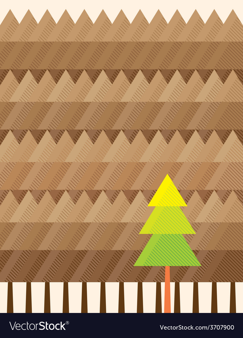 Outstanding tree background vector | Price: 1 Credit (USD $1)