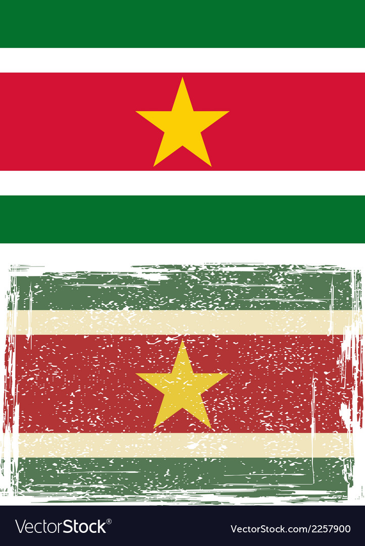 Suriname grunge flag vector | Price: 1 Credit (USD $1)