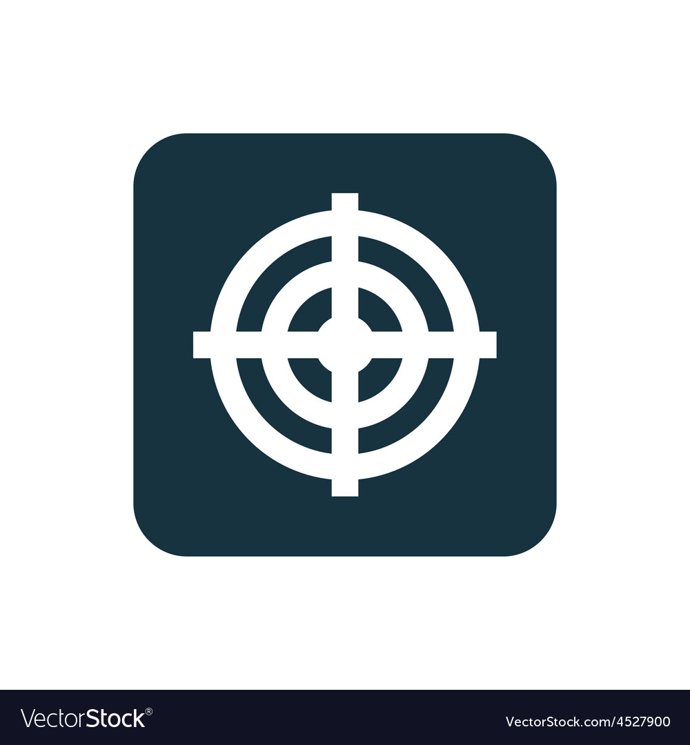 Target icon rounded squares button vector   Price: 1 Credit (USD $1)